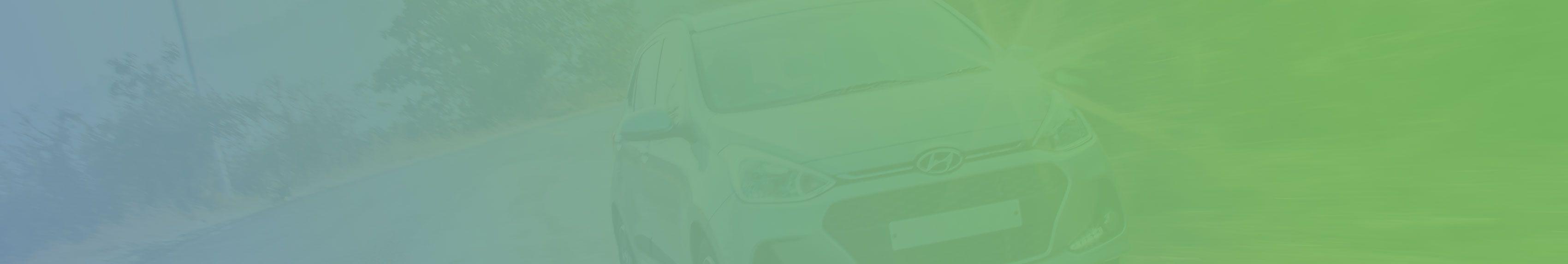 green car on angle