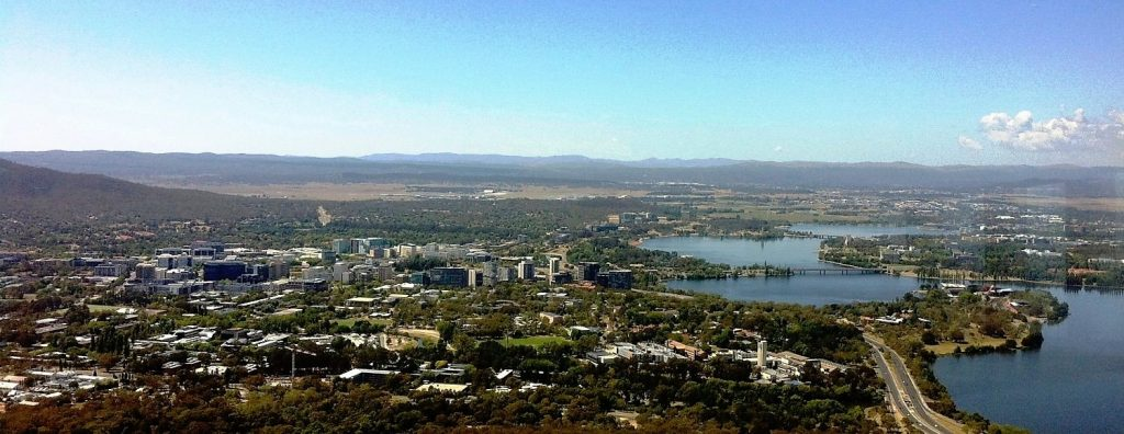 Canberra Building Inspections Civic from Teltsra Tower.