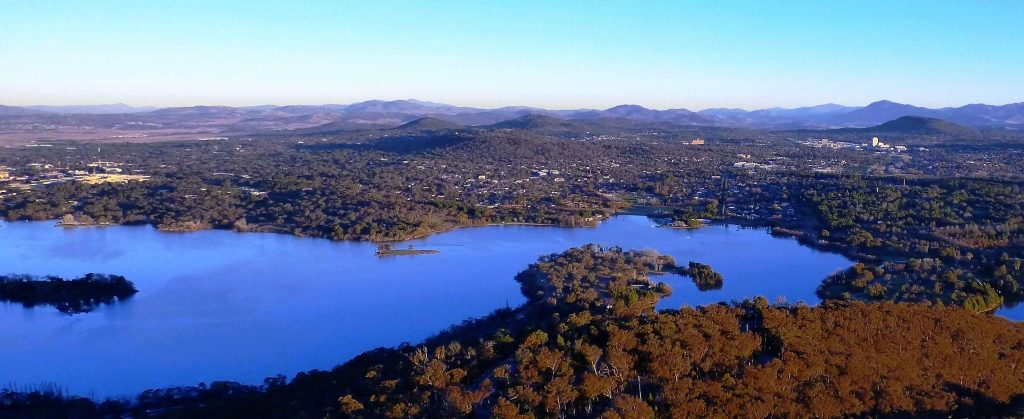 Lake Burley Griffin of Canberra.